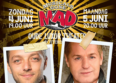 Ook Tommie Christiaan en Tony Neef in Musicals Gone Mad